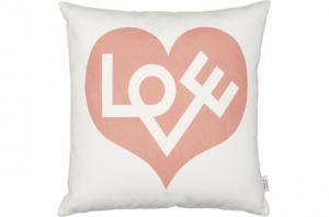 Coussin Graphic Print Pillows - Love